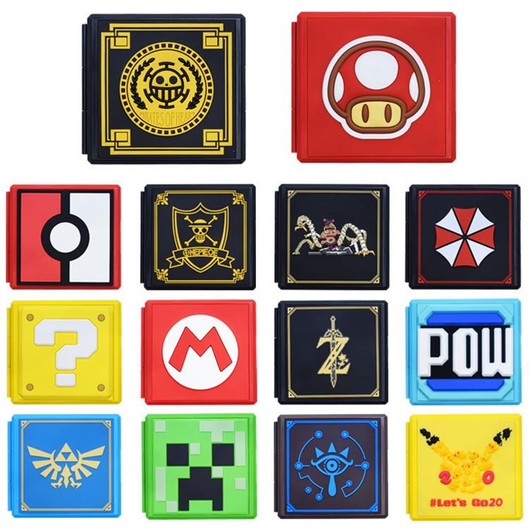 Nintendo Switch Mario Zelda Pokemon Theme Game Cards Case