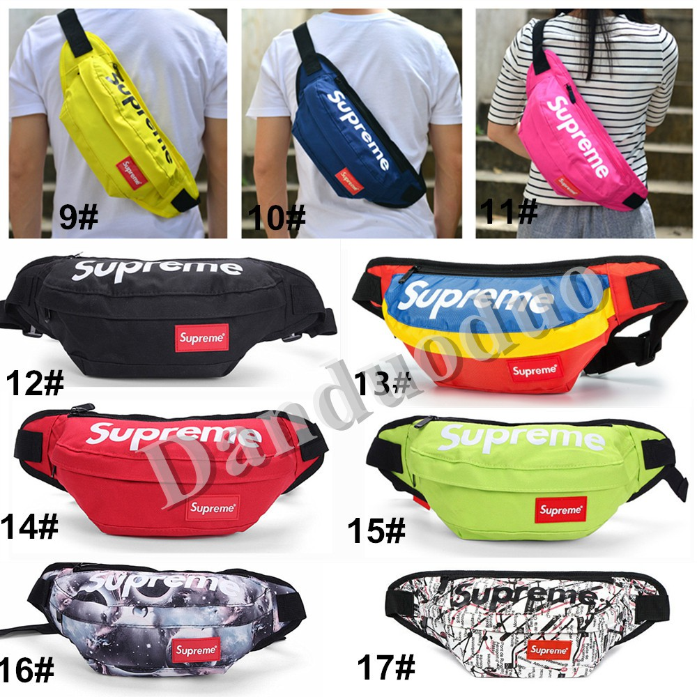 Women Men Supreme Chest Waist Sling Crossbody Bag Pouch | Shopee
