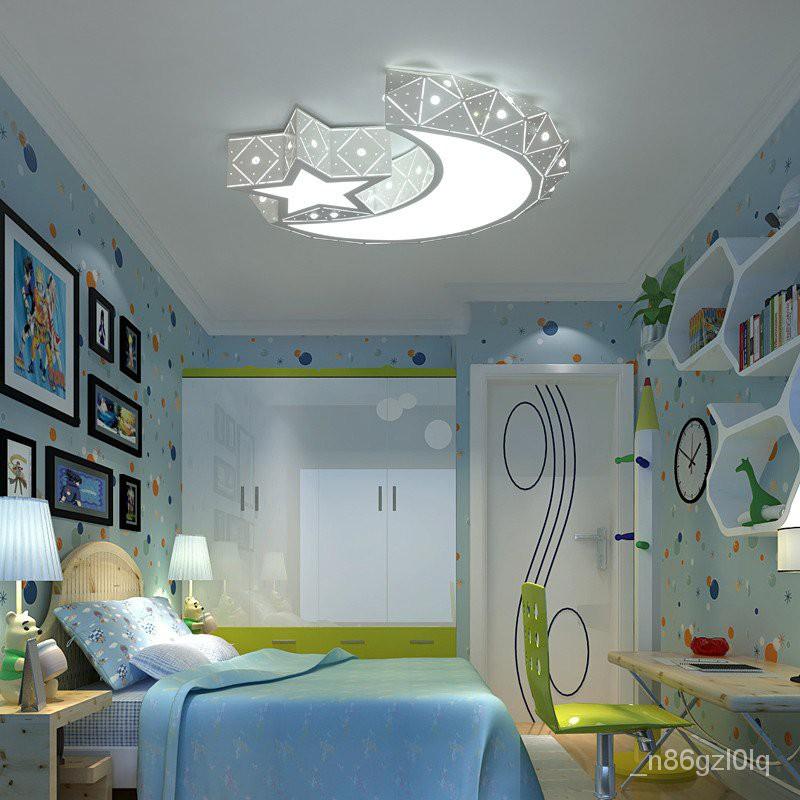 Moon Star Led Ceiling Light In Bedroom Ceiling Light Kids Room Ceiling Lamp For Children Baby Girl B Shopee Philippines