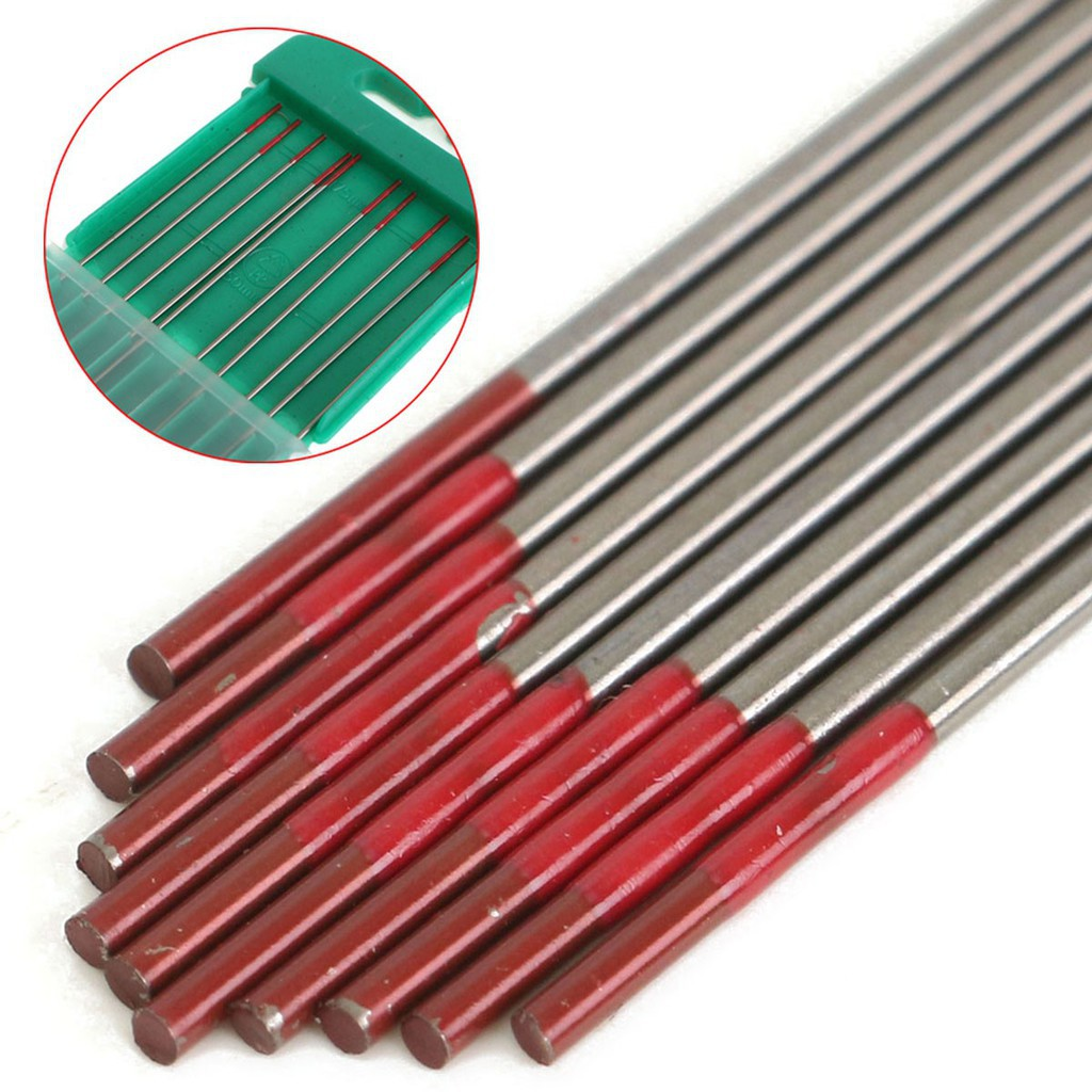 """Red 2/% Thoriated Tungsten Electrode WT20 1.6*150mm 1//16/""""*6/"""" For TIG Welding 10PK"""