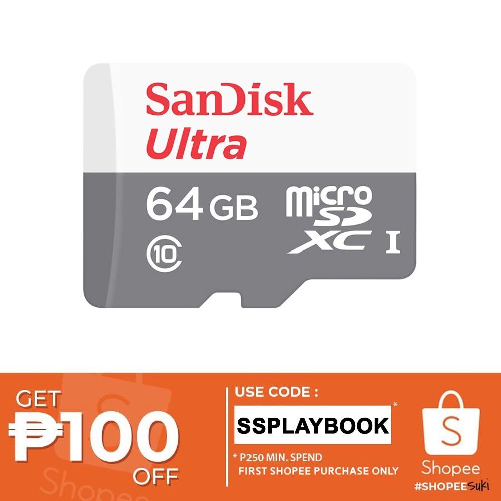 SanDisk Ultra 64GB microSDXC UHS-I Card (SDSQUNS-064G-GN3MN)