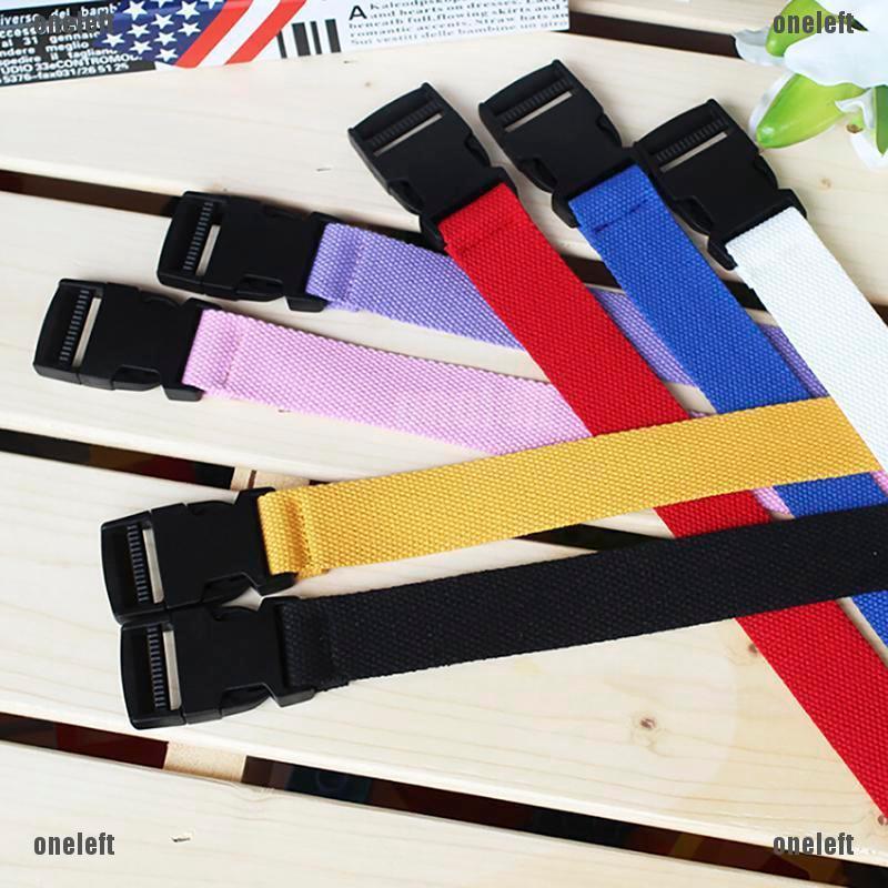 Unisex Mens Boys Canvas Waist Belt Plain Webbing Waistband Casual Belt