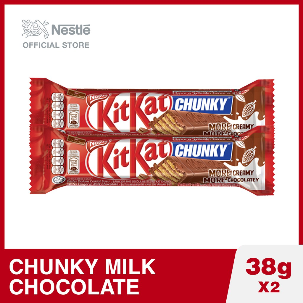 Kit Kat Chunky Milk Chocolate 38g (Pack of 2)
