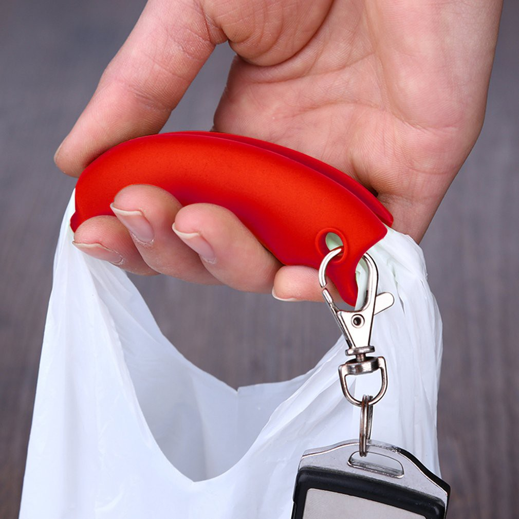 Silicone Shopping Bag Basket Carrier Grocery Holder Handle Comfortable Grip 3e