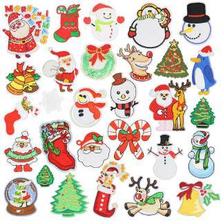 CHRISTMAS SANTA WITH BAG EMBROIDERED IRON ON  APPLIQUE 2661-J