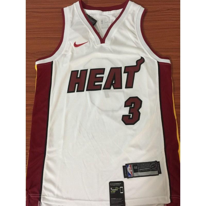 premium selection 52df6 43573 xiaoxiapi Nike Miami Heat Dwyane Wade NBA Jersey #3 breathable white