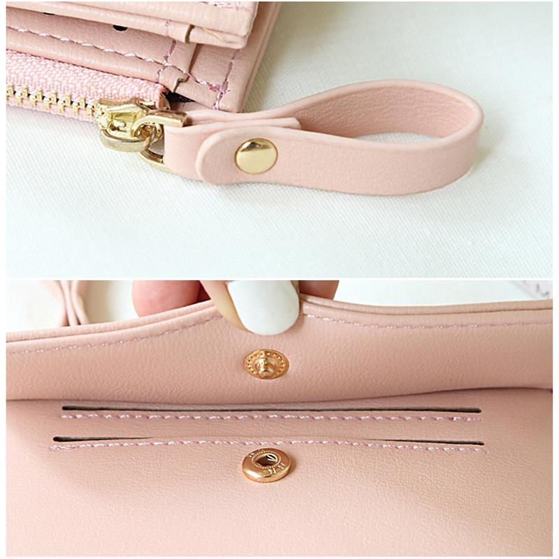 e1712a7159db Women Small Wallet Lady Mini Purse Bifold Leather Short Wall