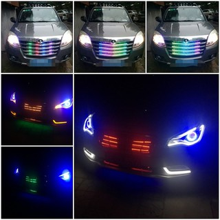 Car 4pcs Strip Trunk Engine Bay Led Display Lightning Rgb