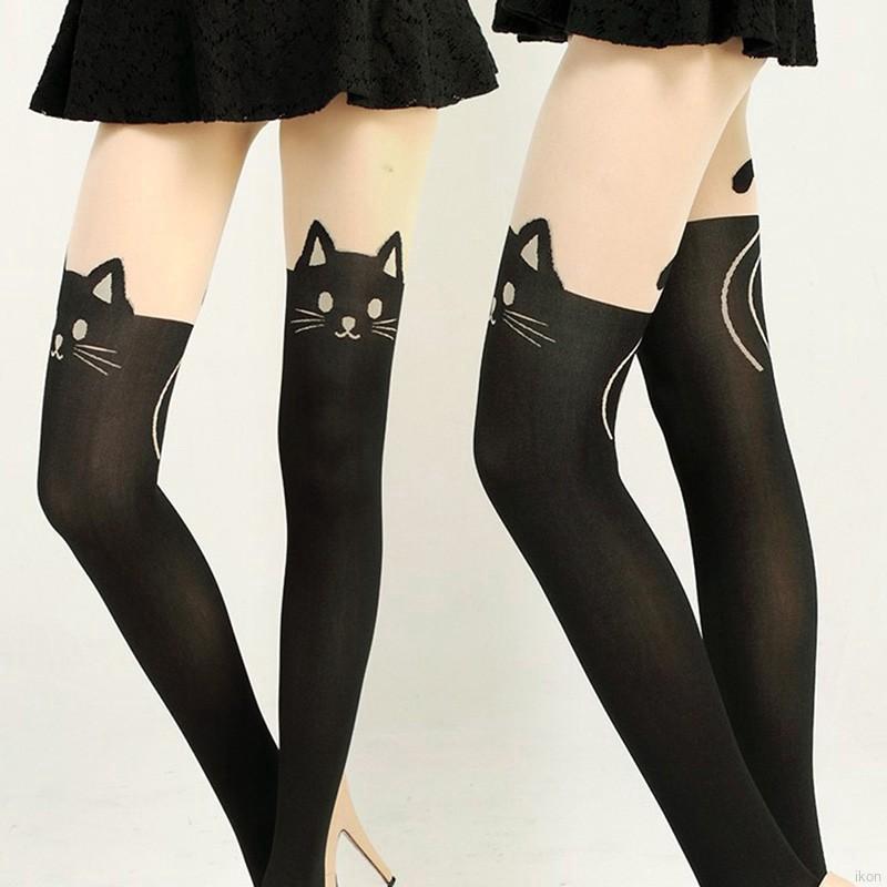 f4e8e003cd85 Girls Velvet Printing Fake Tattoo Sheer Sexy Stockings | Shopee Philippines
