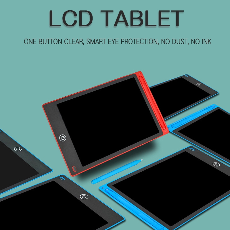 LCD LCD Handwriting Tablet Environmentally Friendly Drawing Board 8.5 Inch LCD Child Adult Hand Board Light Energy Small Blackboard,Black