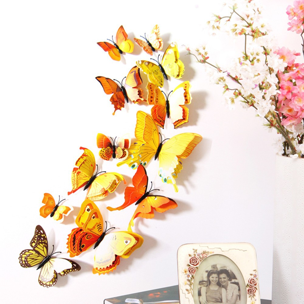 3D Butterfly Wall Stickers | Shopee Philippines