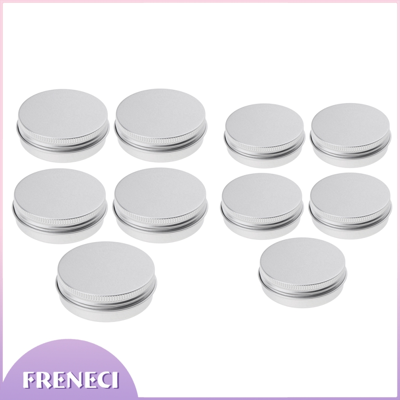 10pcs 30g Round White Screw Cap Lid with Clear Base Empty Jars