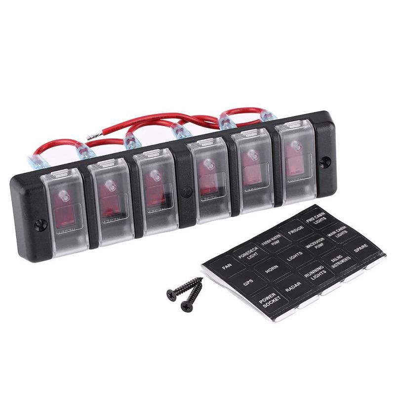19mm 12V Car Blue LED Eye Metal Push Button Toggle Switch ON//OFF Socket Gadget J