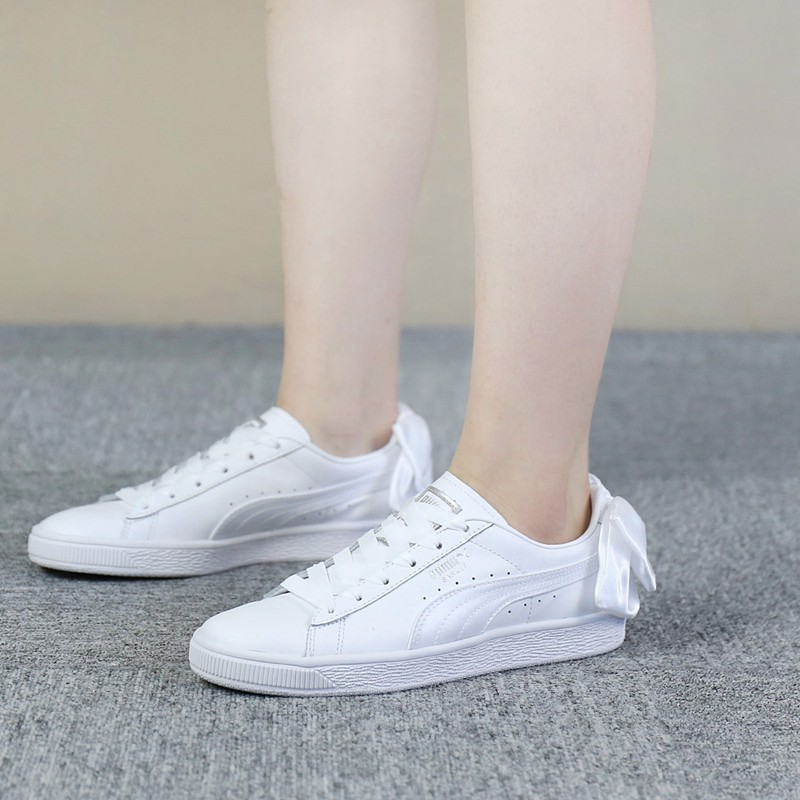 puma basket white shoes
