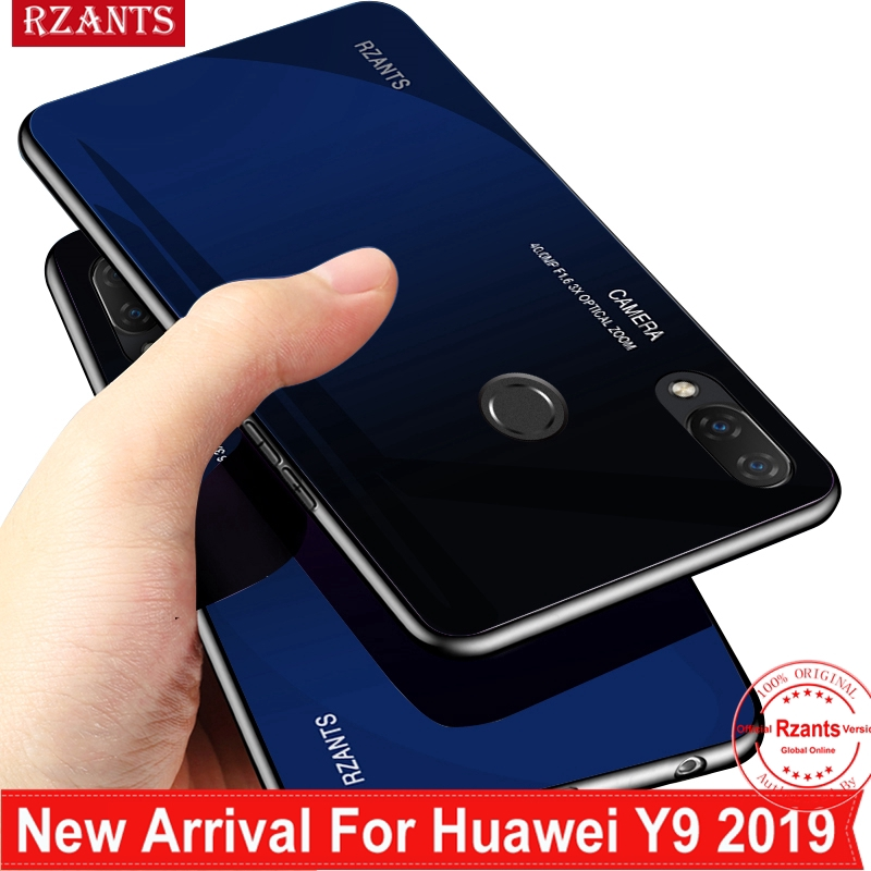 huge discount 18af3 4443b Huawei Y9 2019 Casing【Gradient Glass 】Shockproof Thin Cover