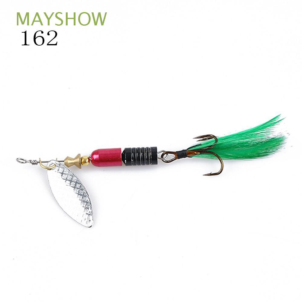 Paillette Metal Fishing Lures Crank Bait Spoon Spinner Feather Treble Hook
