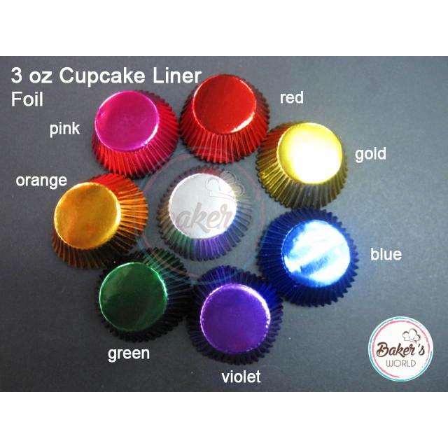 3oz Cupcake Liner Foil 25s
