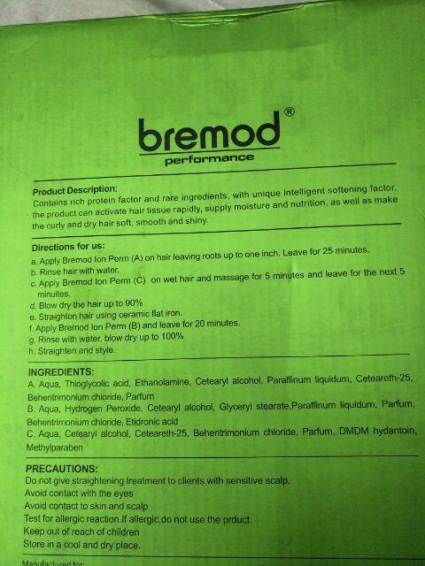 Bremod 3in1 smooth rebonding 1000ml*3