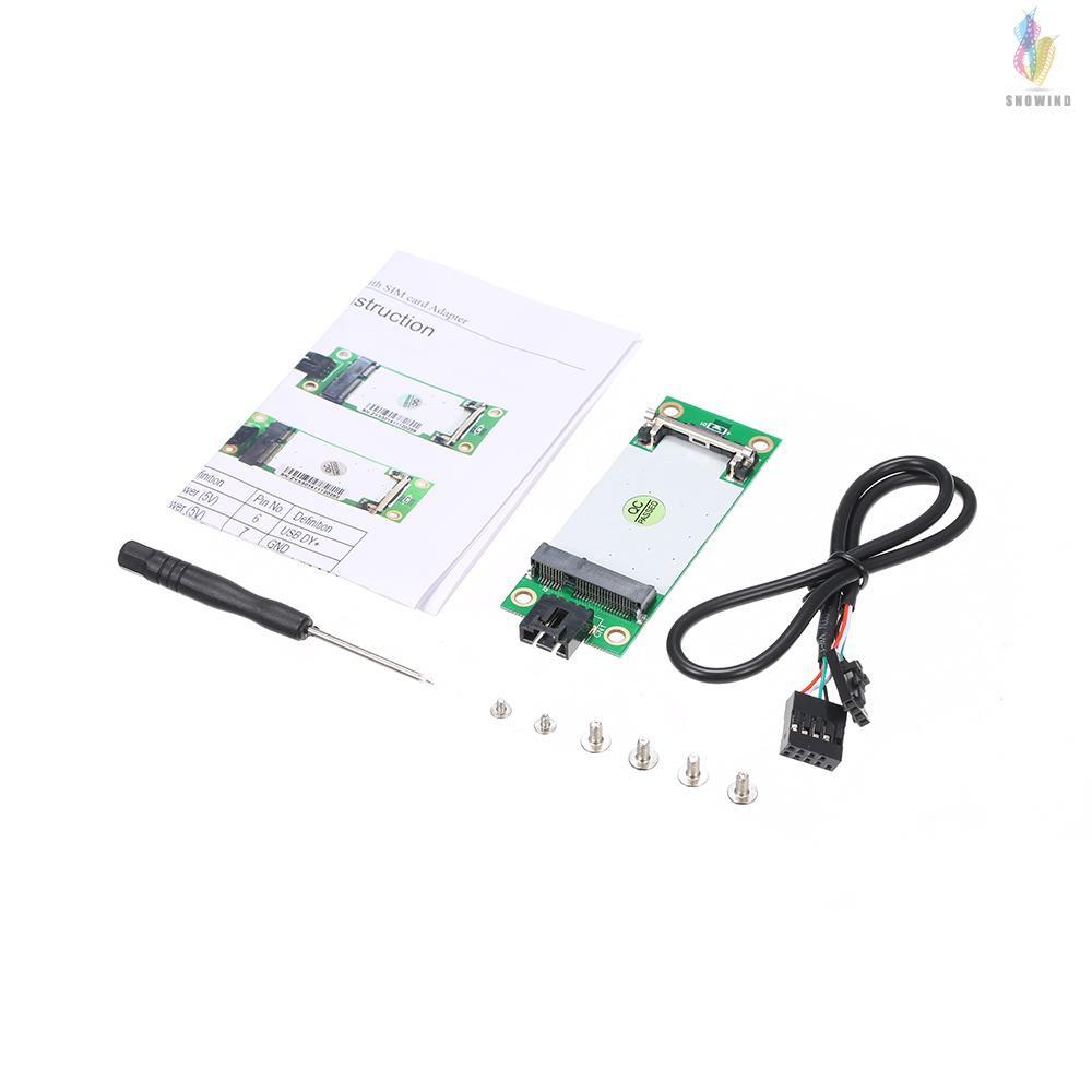 mini pcie wwan to usb adapter card with sim slot wwan3g