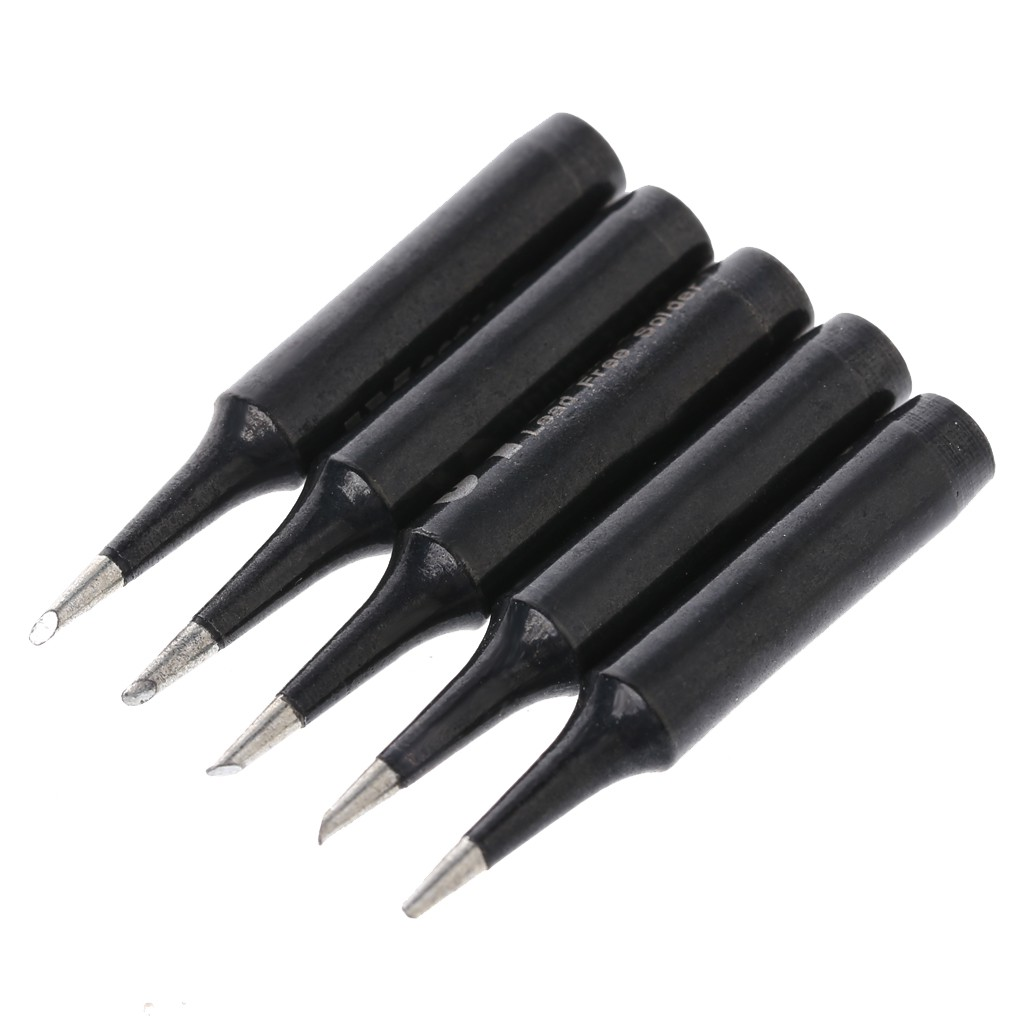 5PCS 900M-T-1C Solder Iron Tip Lead-free Soldering Replacement for Hakko 936
