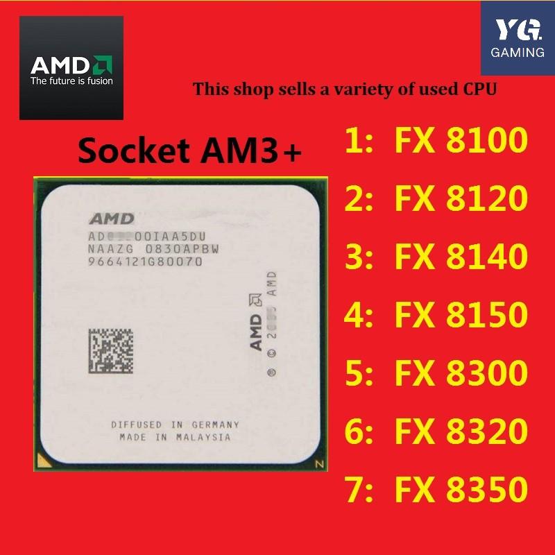 Amd Fx 8300 8100 8150 8320 8350 8120 8370 E Octagonal Am3 Bulldozer Cpu Shopee Philippines