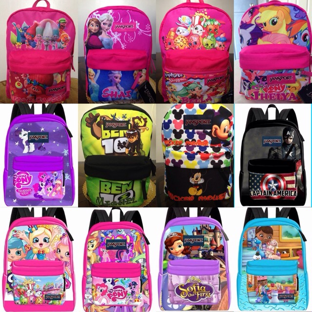 b070fa2f147 CHARACTER Jansport Backpack (Customized Print❤ )   Shopee Philippines