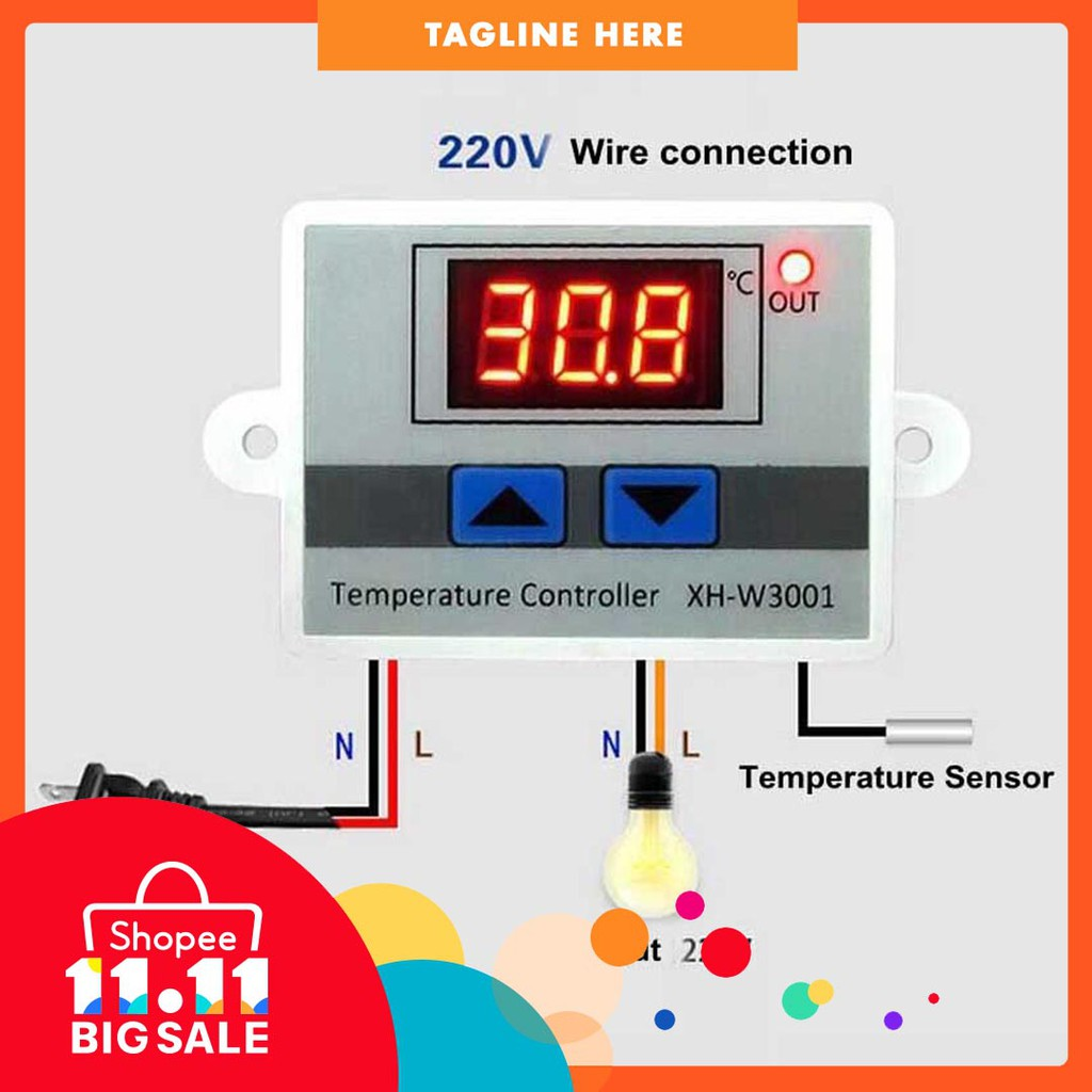 Electric Vehicle Parts Just 12v Digital Led Temperature Controller Thermostat Switch Waterproof Probe Wire Connect High Sensitivity Temperature Sensor