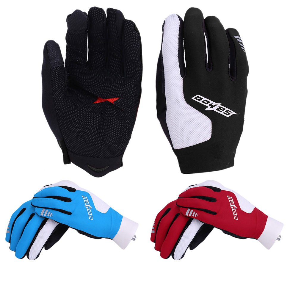 SAHOO Cycling Gloves Full Finger Summer Style Bicycle MTB Road Bike Gloves UR