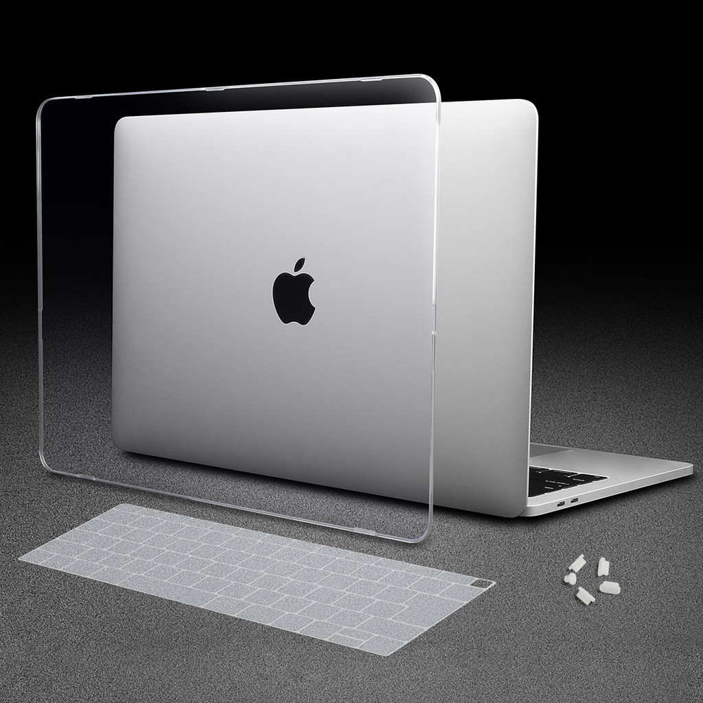 3-IN-1 Clear Case+Black Keyboard Cover+LCD Screen For Macbook Air A1932 2018