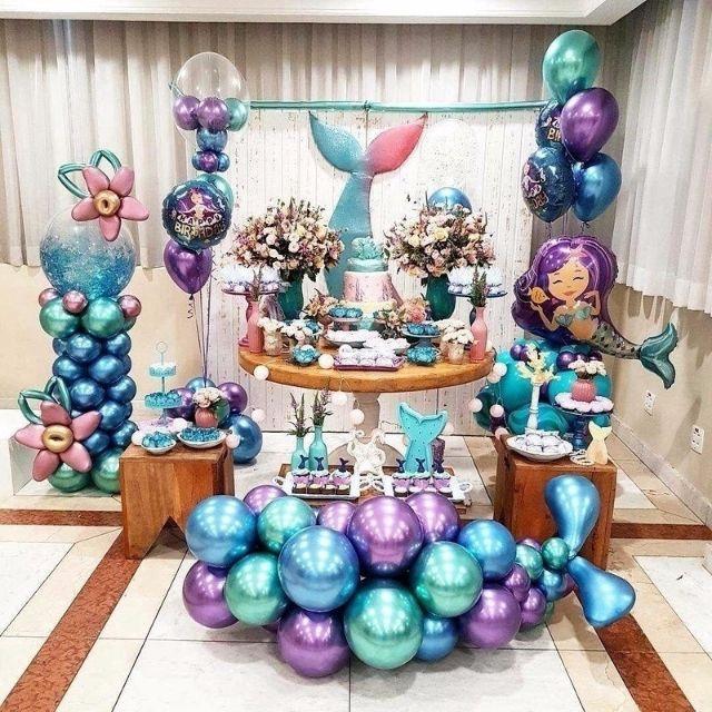 """10/"""" Chrome Balloons Bouquet Birthday Party  Wedding Shiny BALLOONS OU"""