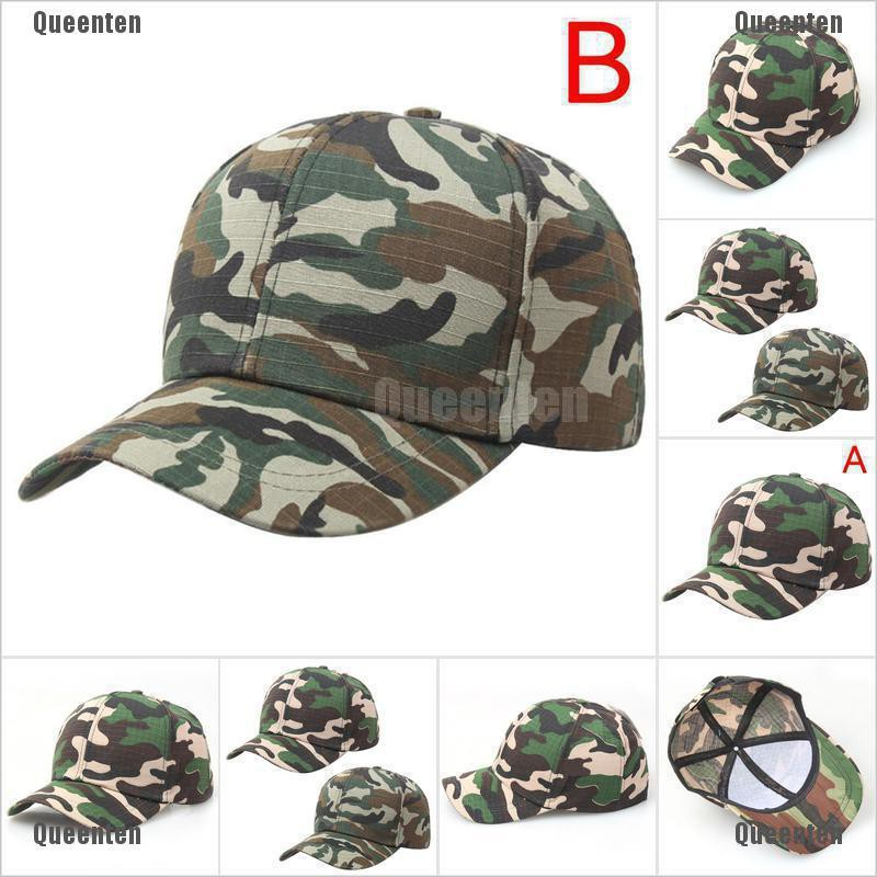US Men Women Baseball Cap Military Army Camo Hat Trucker Camouflage Snapback Hat