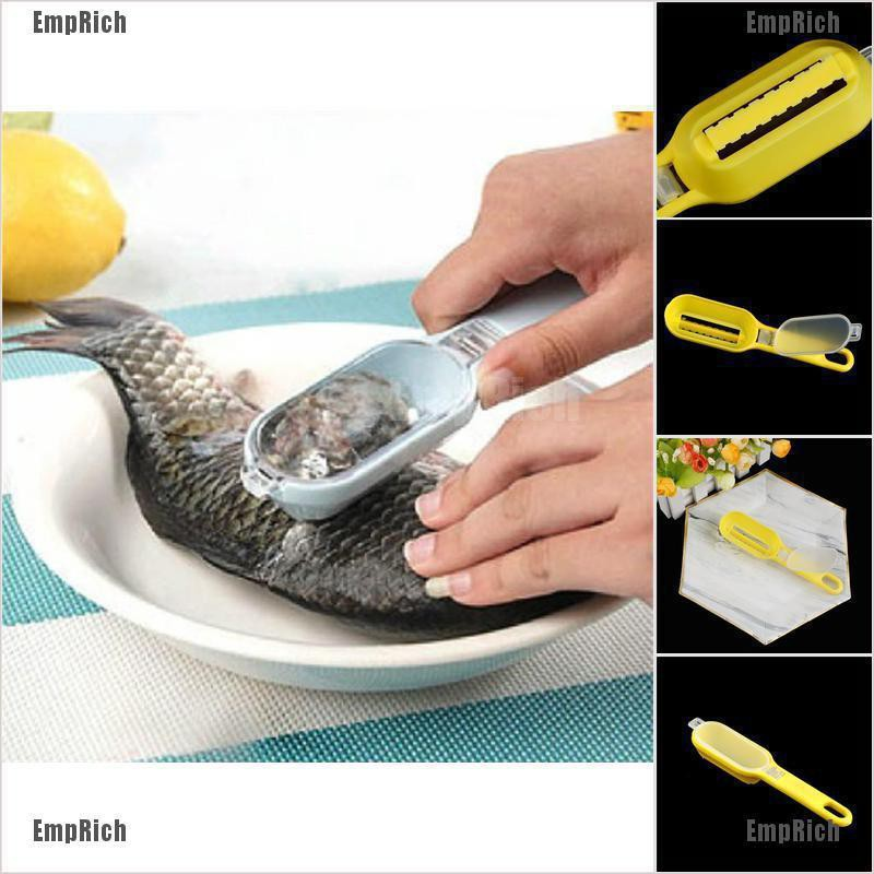 Fastcleaning fish scale remover fish skin steel plastic scaler scraper cleaner/_F