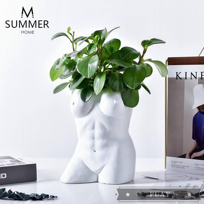 Nordic Body Art Vase Creative Ornaments Bedroom Living Room Premium Home Retro Half Shopee Philippines