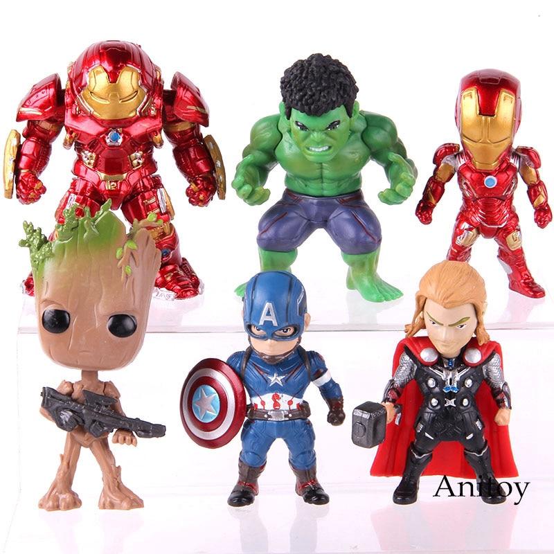 8PCS Minecraft Figures MARVEL ACTION-Super Héros Avengers Batman Hulk Spiderman