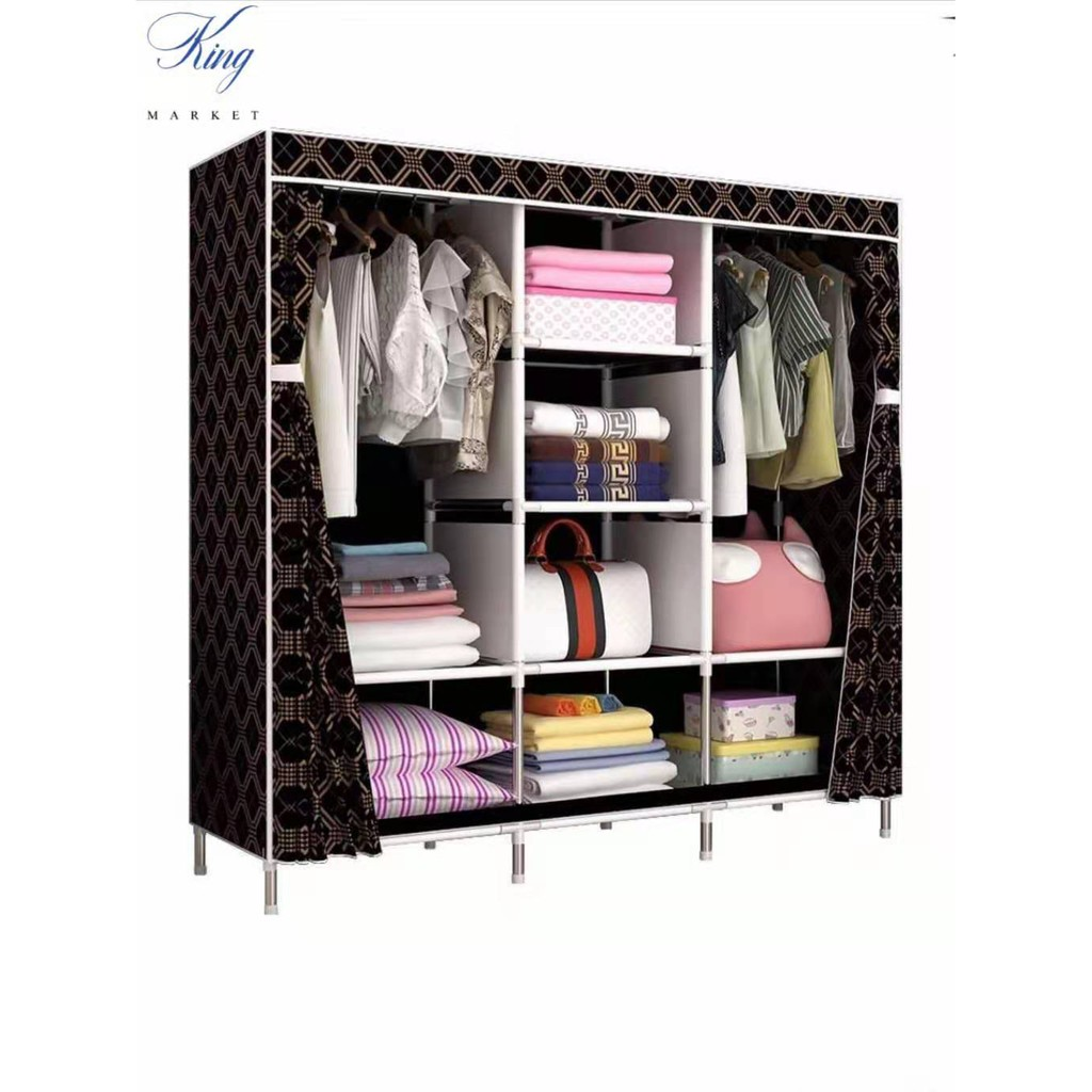 88130-Big Size Wardrobe Clothes Storage And Organizer Wardrobe Clothes Rack  Organizer