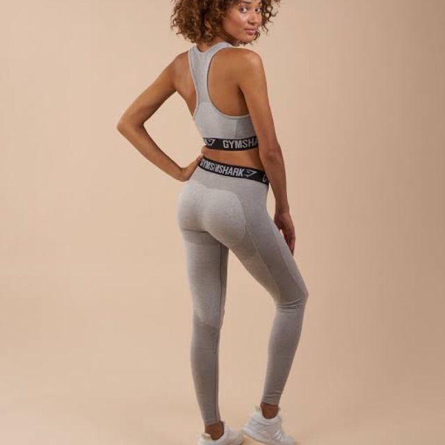 82018b6343 Gymshark Flex Leggings Beet Marl Chalk Pink