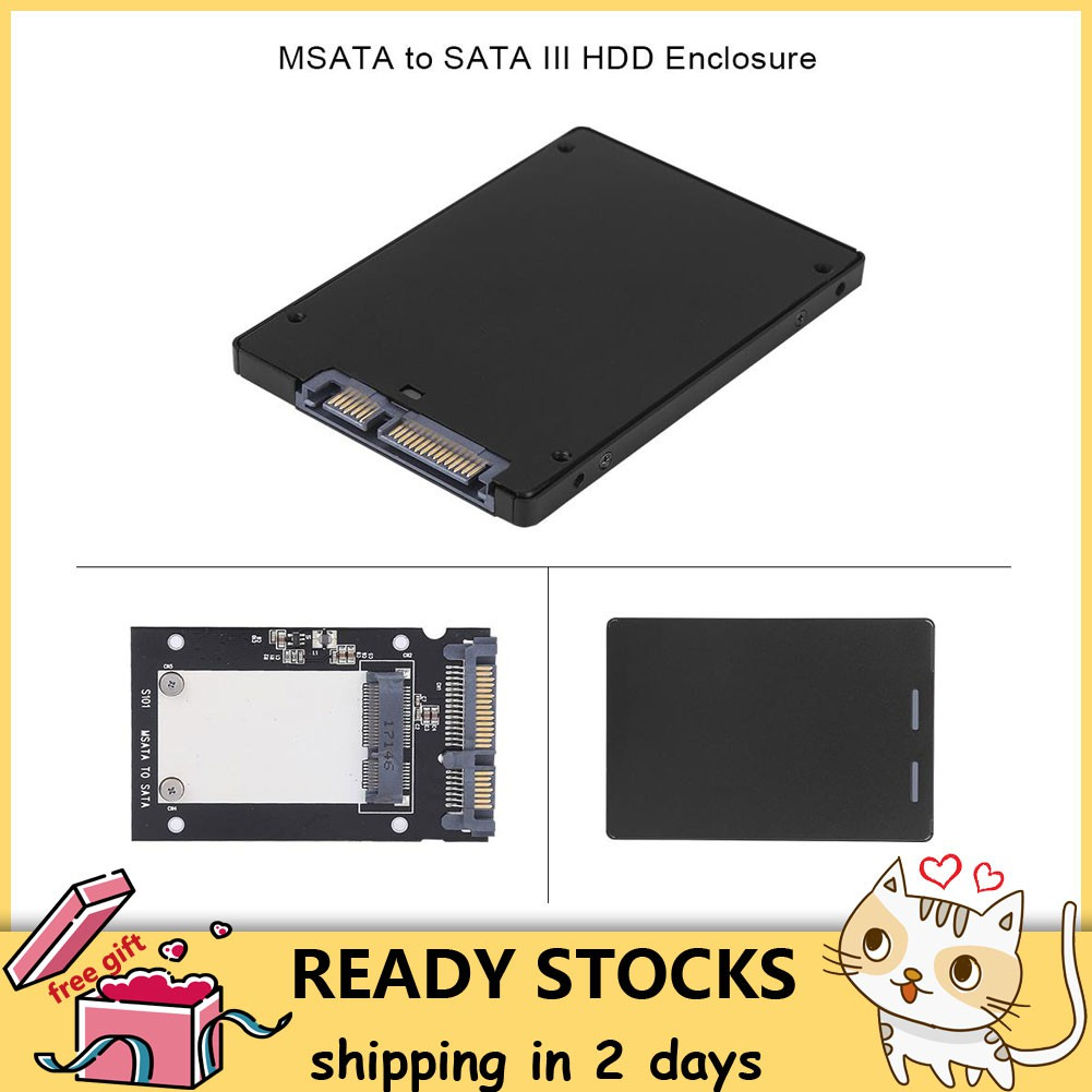 Mini Metal mSATA to 2 5