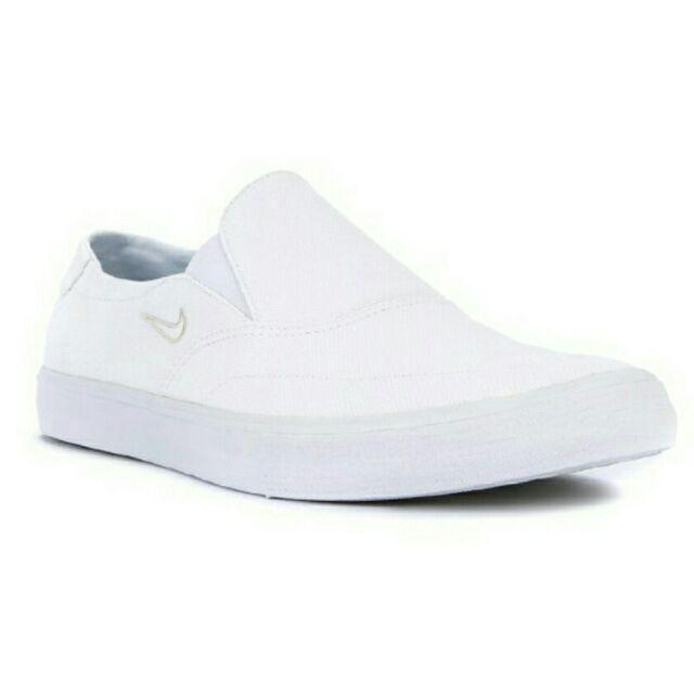 Revocación pintar Trivial  Original Nike White Shoes Low Cut Slip On Nursing Sneakers | Shopee  Philippines
