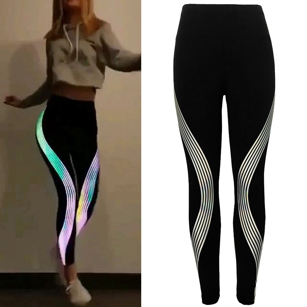Neon Shiny Bright Glow 12 Candy Colors Stretch Pants Leggings Rave Party
