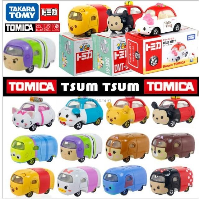 Disney Toys Tsum Tomica Minnie Stitch Winnie Model Toy Car