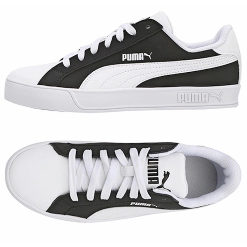 finest selection f233f 376c3 korea puma smash vulc black and white stitching panda men an