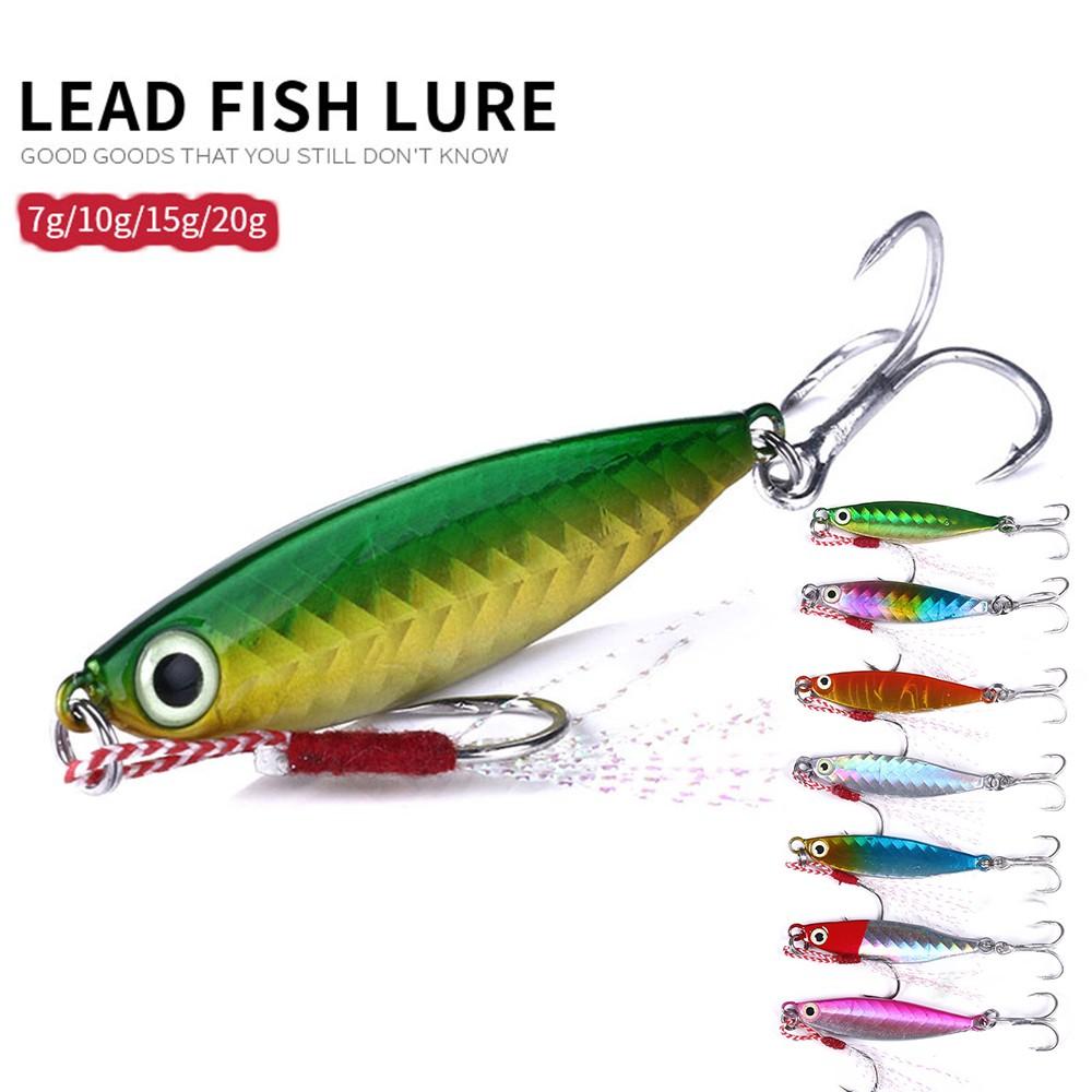 4pcs Fishing Lures 5g 10g 15g 20g Metal Spoon Jigs Trolling Lure Hard Baits