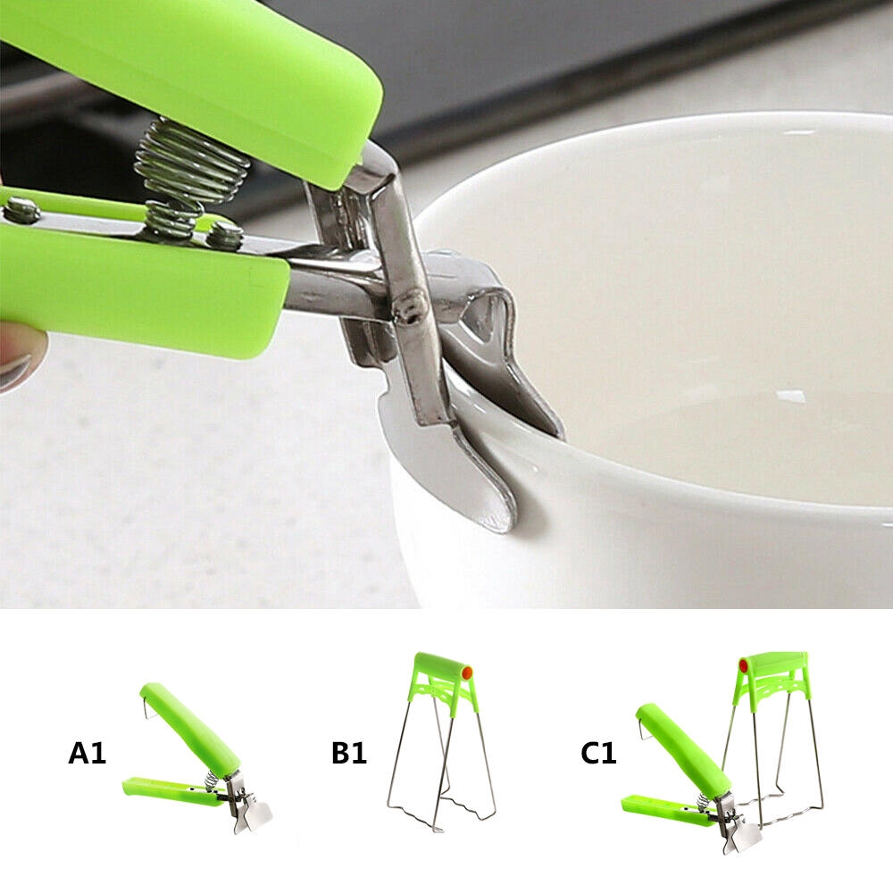 Bowl Clip Kitchen Pan Pot Anti-Hot Holder Clamp Handheld Dish Plate Gripper