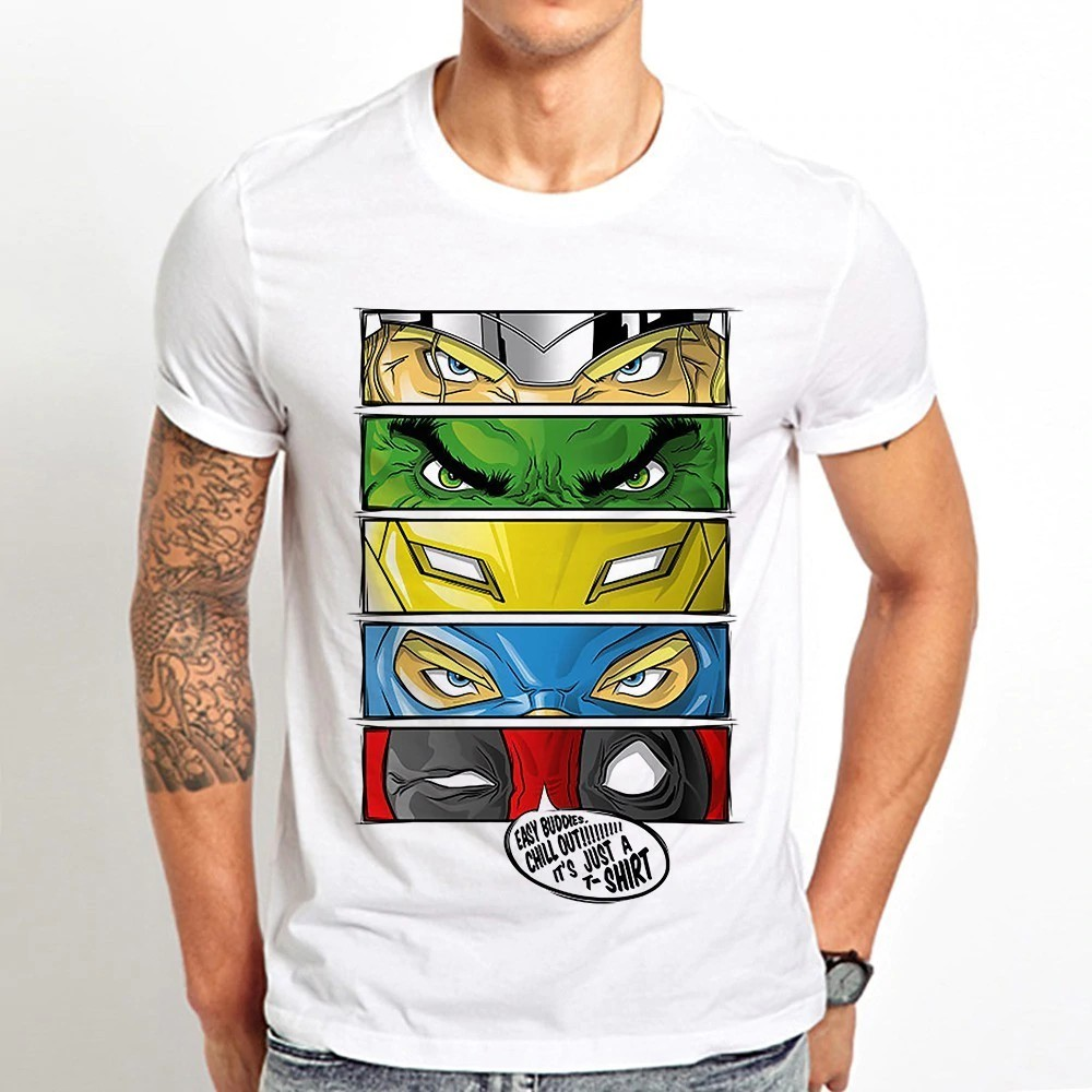 Indepence Life Toddlers Hulk Superheros Short Sleeve Cotton T Shirt Boys Avengers Fashion Tee