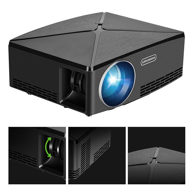 C80 2800 Lumens 720P HD LED Multimedia Home Theater Projector HDMI AV VGA USB