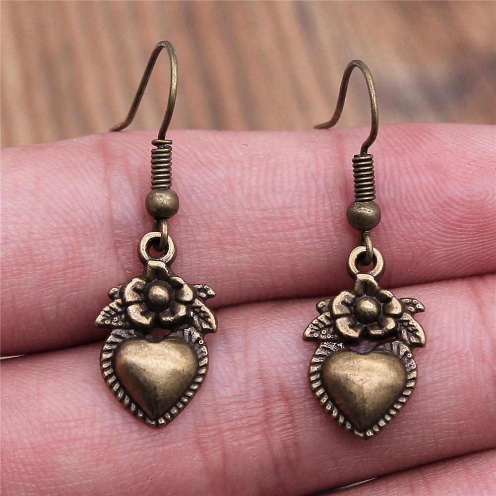 Taliyah 1 Pair Bullet Drop Earrings Jewelry Earrings Findings with Earring Cap