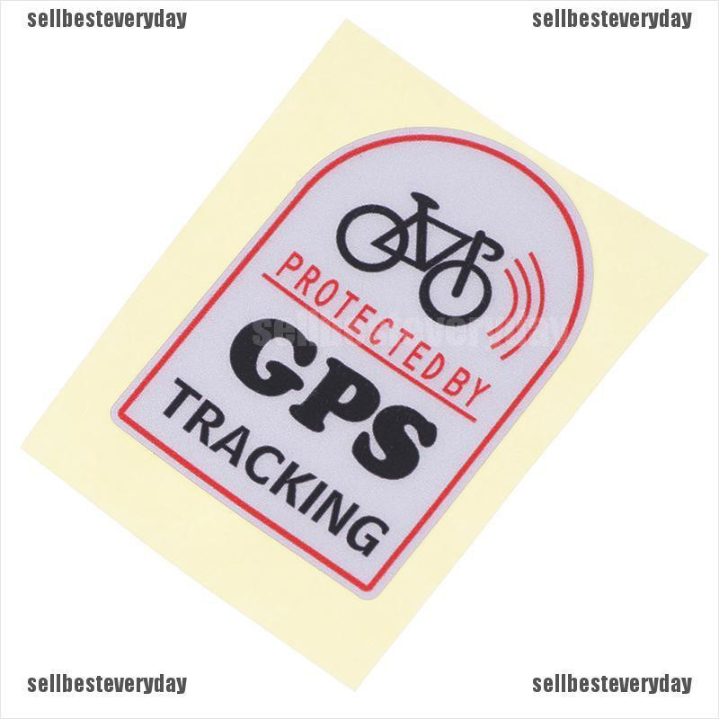 Anti Theft Safety Decal Bicycle GPS Tracking Stickers Bike ProtectiJB