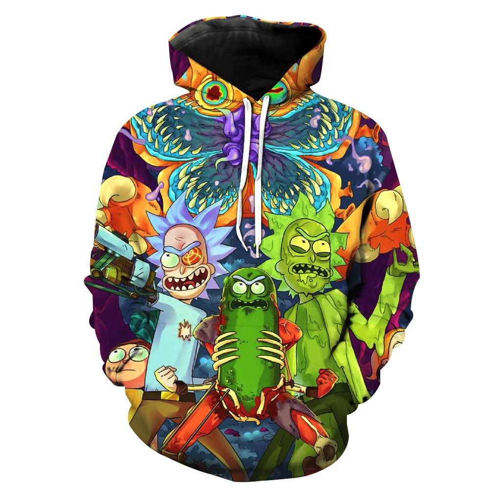 Men's Clothing American Dc Cartoon Anime Robin Fashion Print Hooded Sweatshirt Men And Women Large Size Leisure Zipper Jacket With Hat