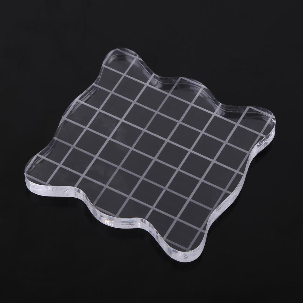 6pcs 5mm Thickness Clear Acrylic Blocks Stamping Rubber Plexiglass Thin Pads
