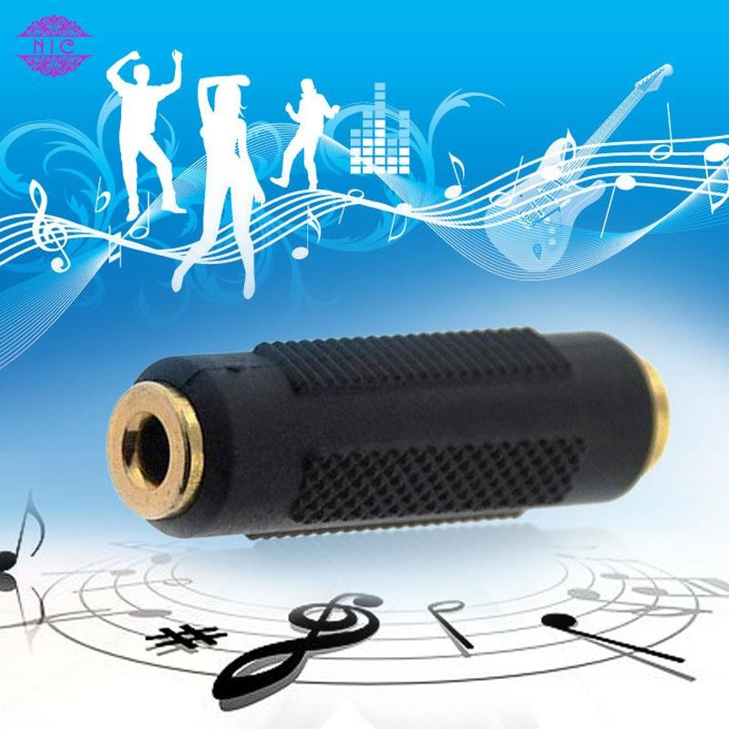 3.5mm Stereo Audio Jack Female to Female Adapter Socket Coupler Connectors